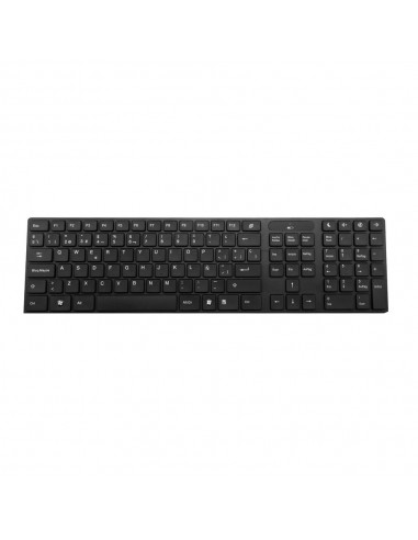 Woxter Slim Keyboard K 500 Black Wireless