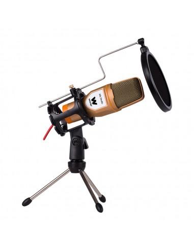 Woxter Mic Studio Golden - Micrófono de Condensación
