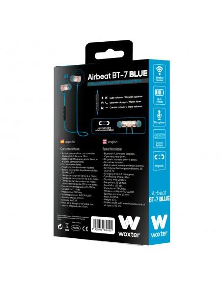AURICULARES BLUETOOTH MAGNÉTICOS WOXTER AIRBEAT BT-7 BLACK
