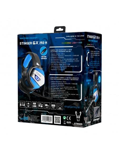 Auriculares Gaming 7.1 Woxter GX 250 H
