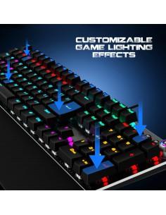 Teclado mecánico gaming stinger 1000 kr